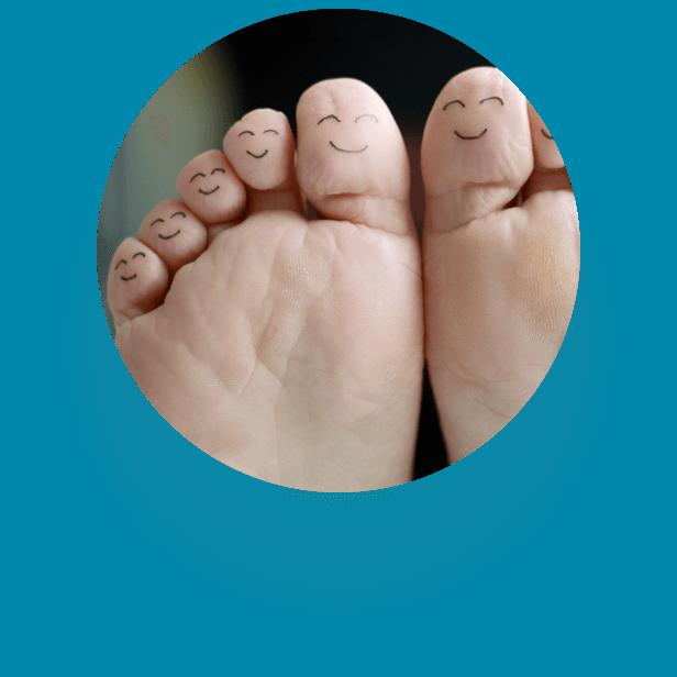 Rentouttava jalkahoito